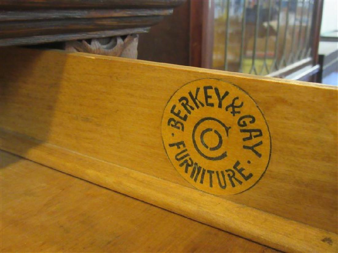 Berkey & Gay Carved Oak Bookcase - 5