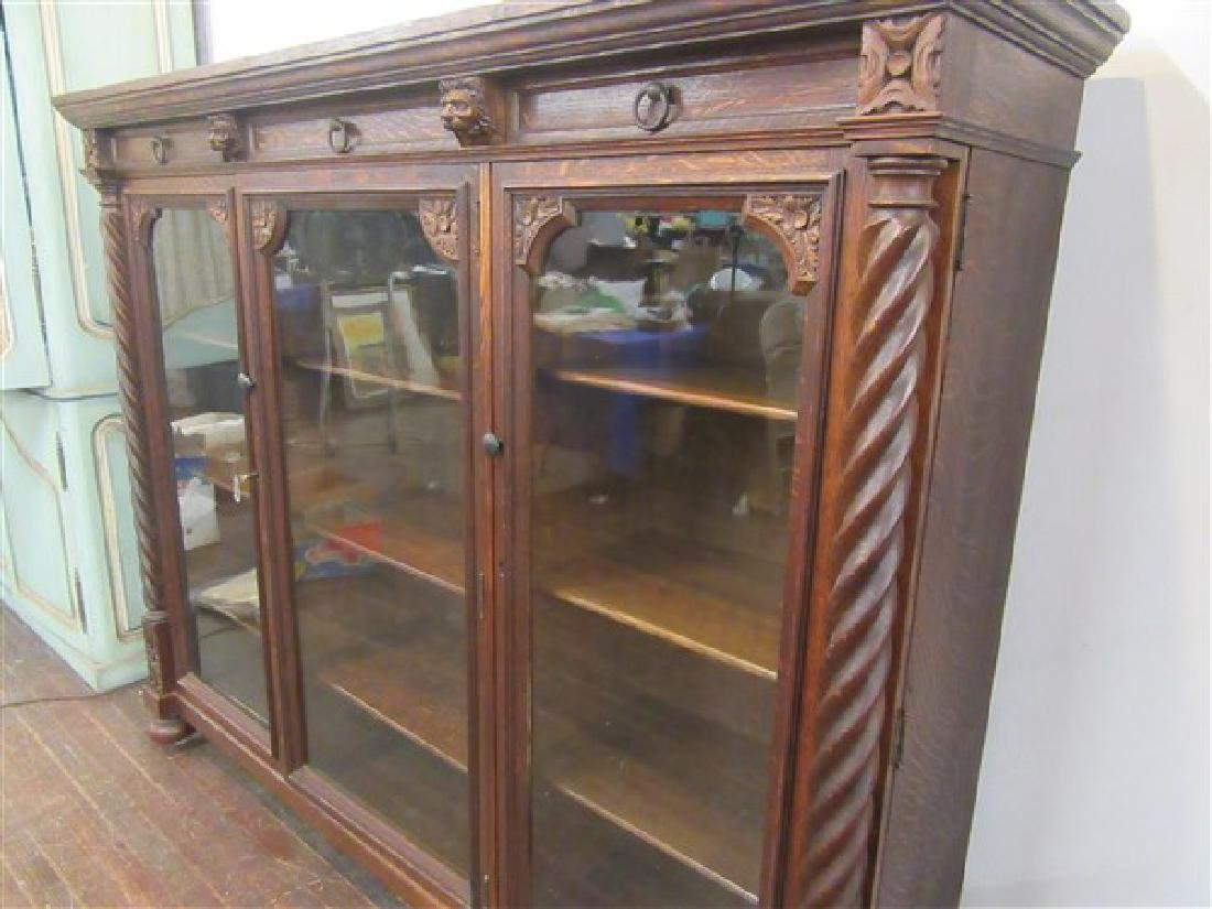 Berkey & Gay Carved Oak Bookcase - 6