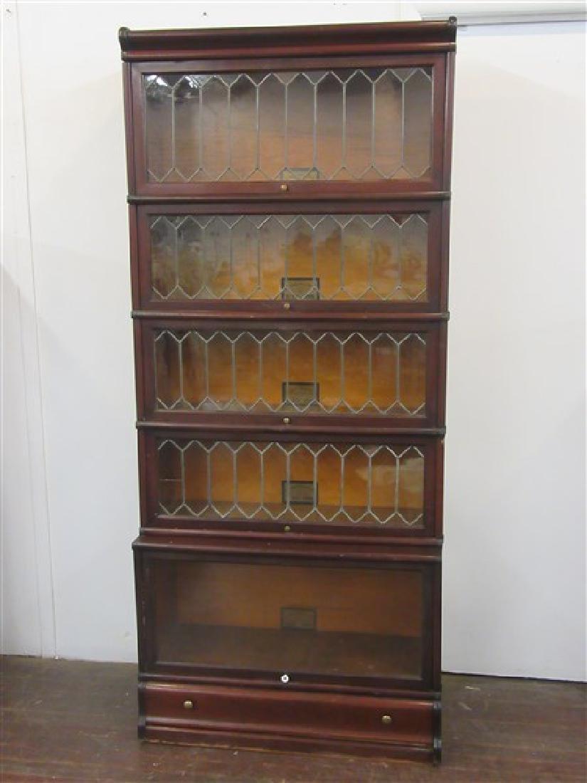 Globe Wernicke Five Stack Mahogany Bookcase