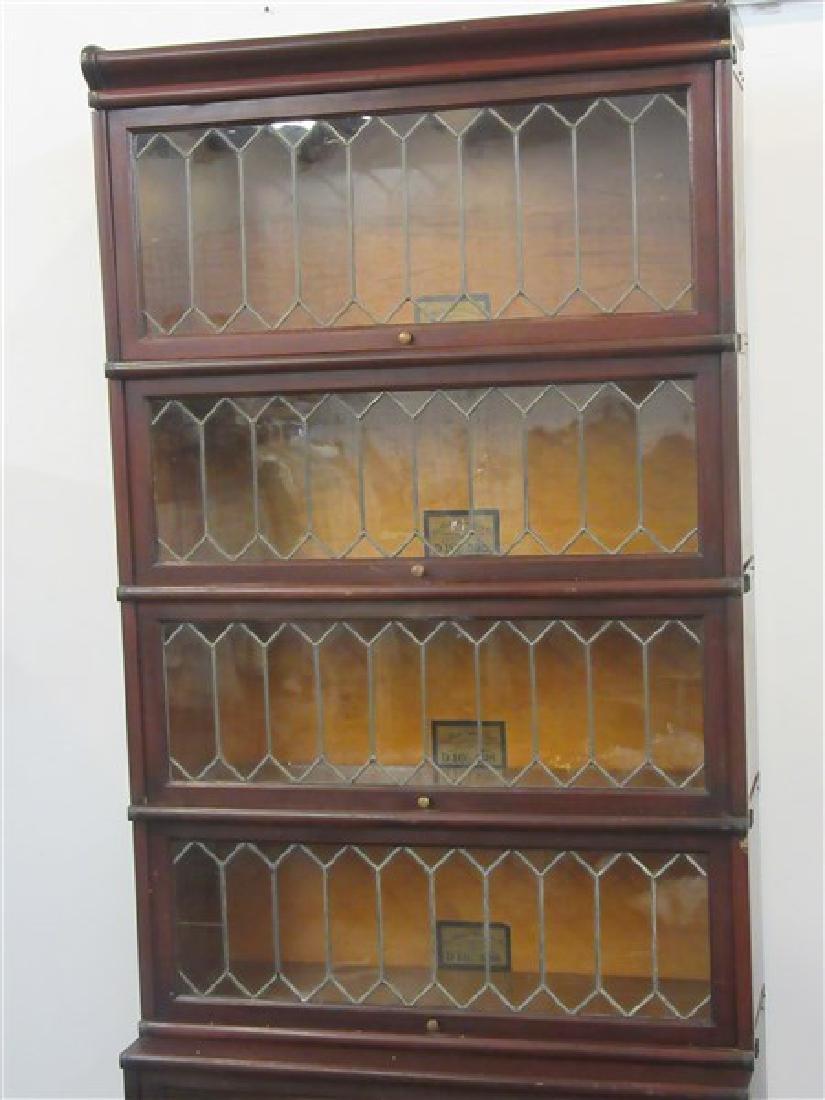 Globe Wernicke Five Stack Mahogany Bookcase - 2