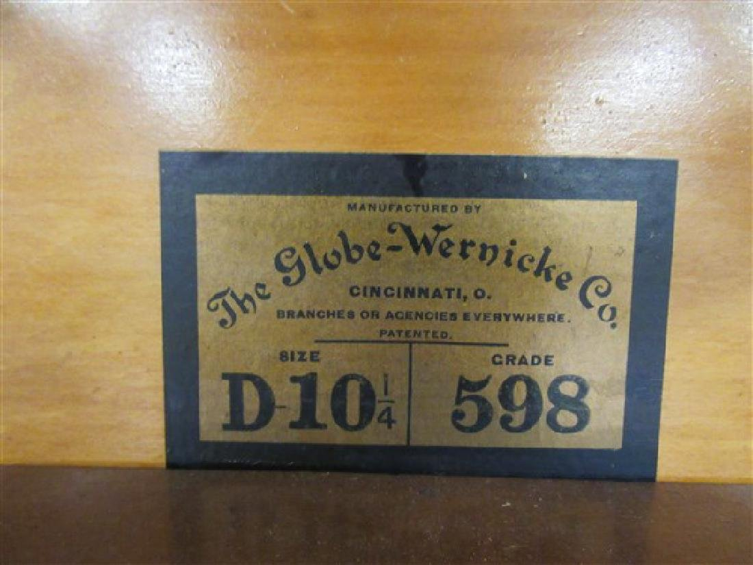 Globe Wernicke Five Stack Mahogany Bookcase - 5