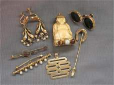 Estate Antique  Vintage Gold Jewelry Group
