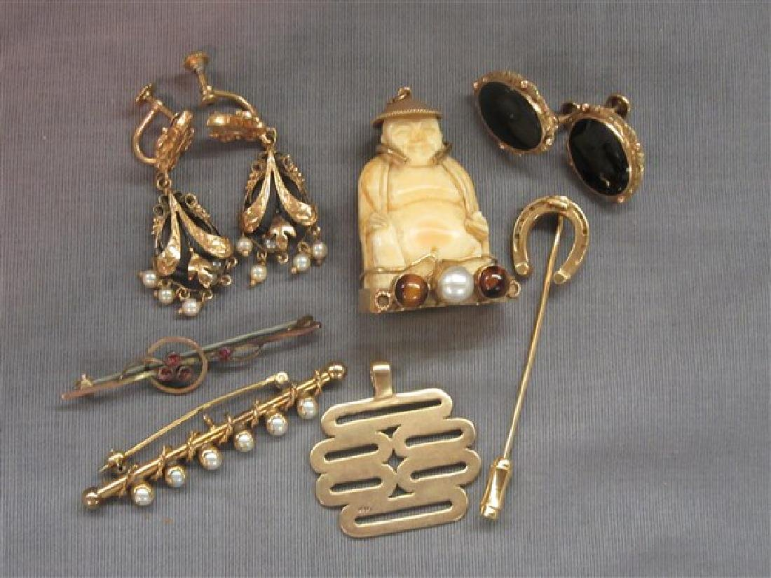 Estate Antique & Vintage Gold Jewelry Group