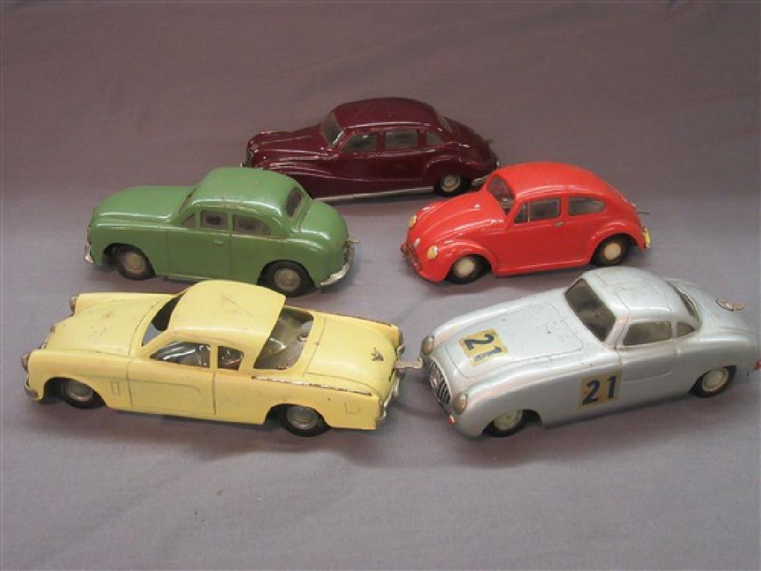 Five (5) Dux German Windup Cars