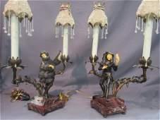Art Deco Figural Boudoir Lamps