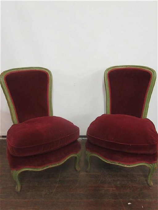 Pr French Style Boudoir Slipper Chairs Sep 24 2018 Flannery S Estate Services In Ny