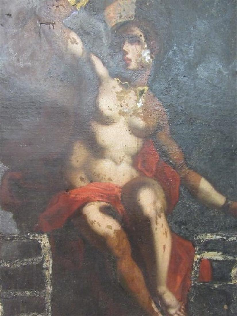 17th/18th c. Italian Nude Figure Oil Painting - 10