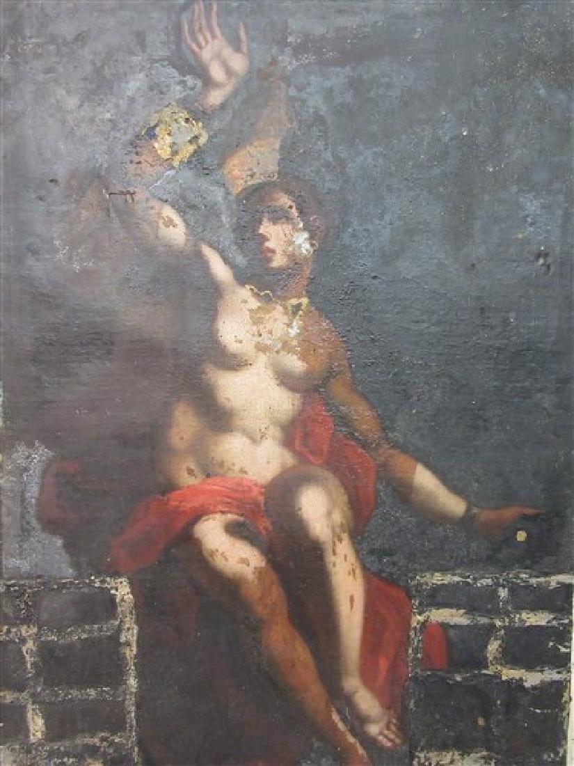 17th/18th c. Italian Nude Figure Oil Painting
