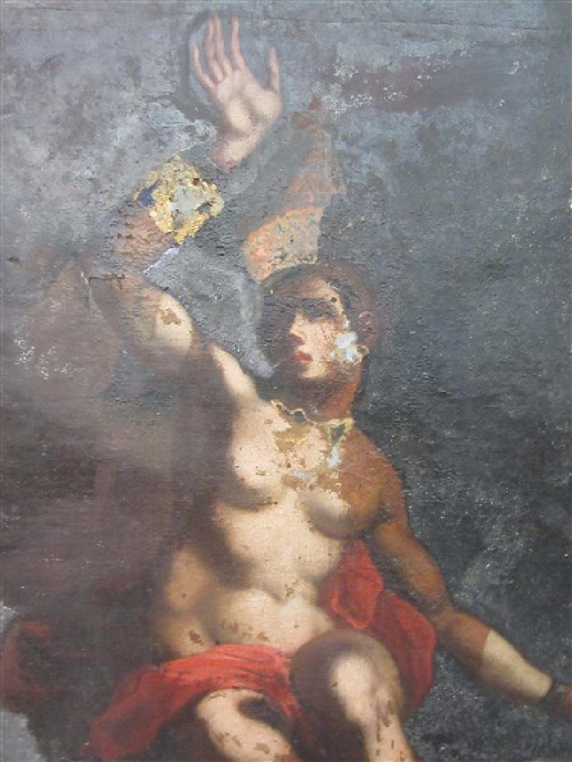 17th/18th c. Italian Nude Figure Oil Painting - 2