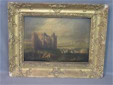 English 18th/19th C. Landscape With Castle Painting