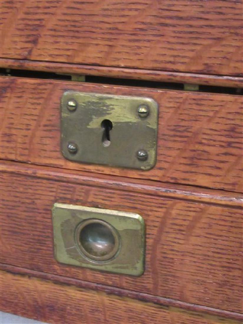 Antique Oak Silver Chest - 2