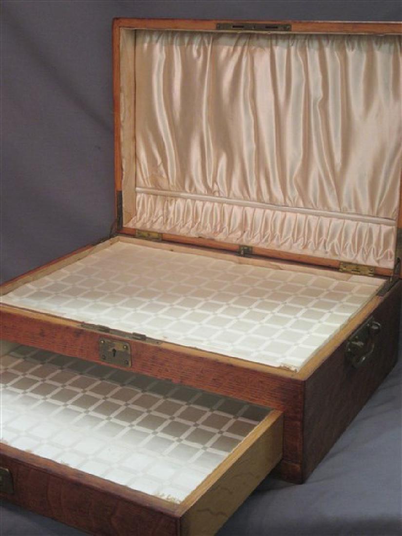 Antique Oak Silver Chest - 3