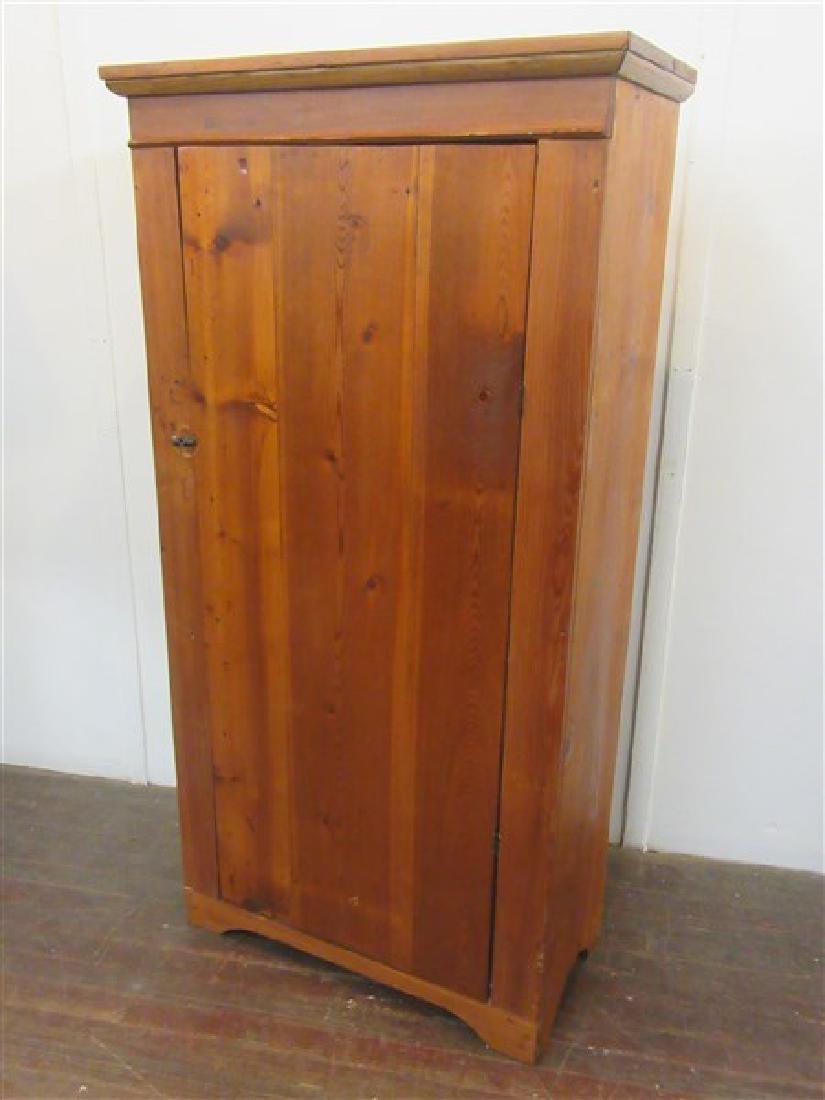 Single Door Pine Pantry Cupboard
