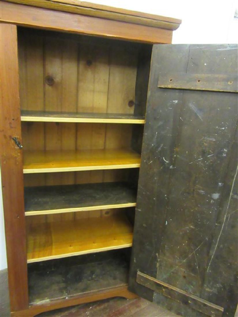 Single Door Pine Pantry Cupboard - 2