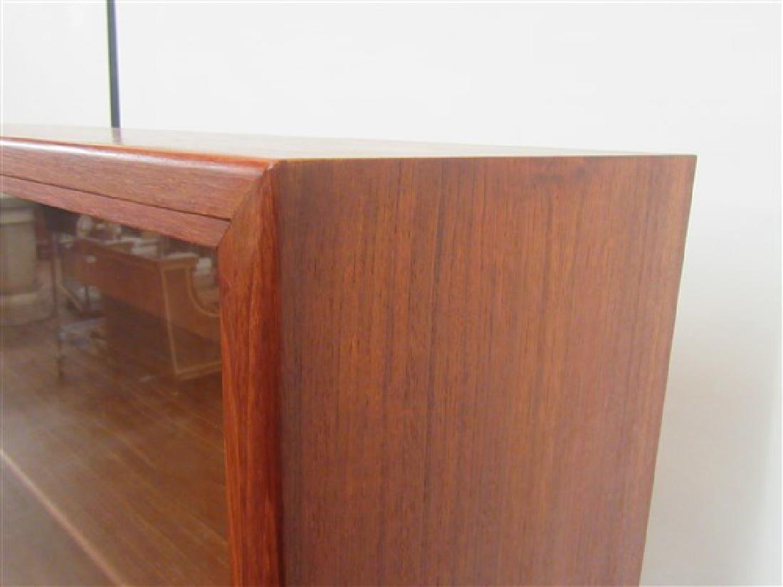 Danish Modern Two Door Glass Bookcase - 2