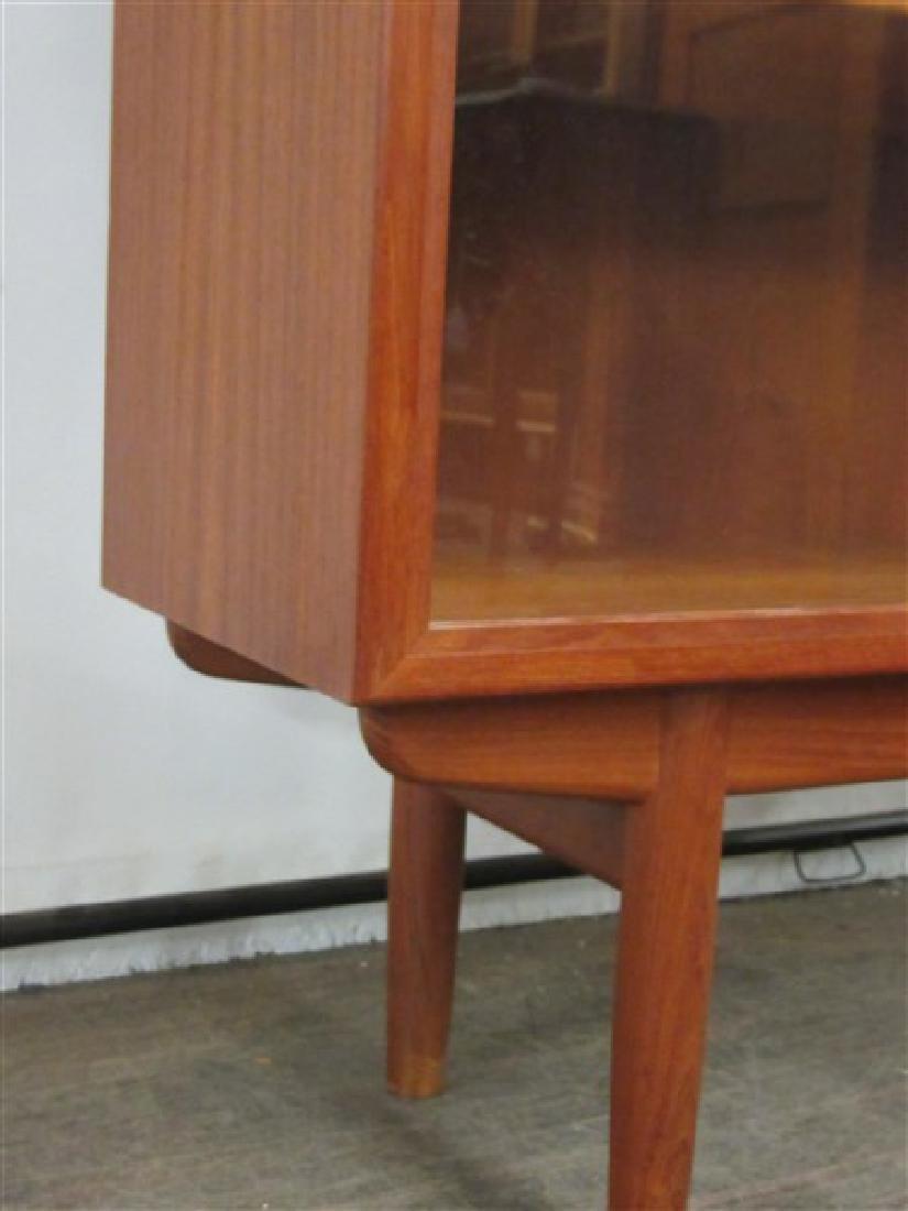 Danish Modern Two Door Glass Bookcase - 4