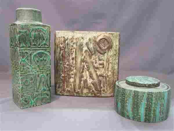 Three (3) Piece Mid Century Art Pottery, Copenhagen..