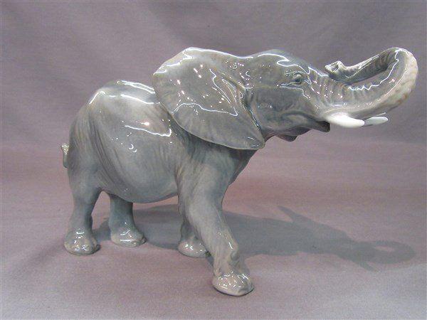 Royal Copenhagen Porcelain Elephant Figurine
