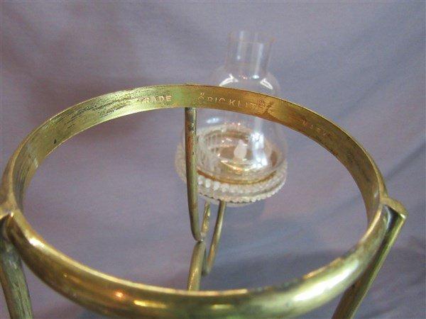 "Clarke's ""Cricklite"" Victorian  Fairy Lamp - 5"