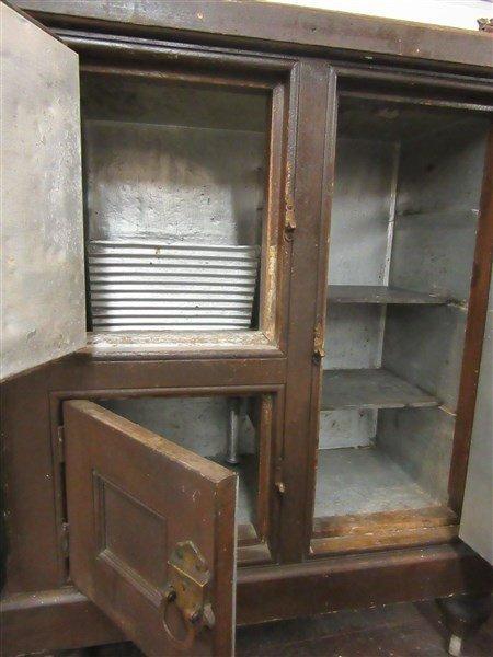 Antique American Pine Ice Box w/ Brass Latches - 3