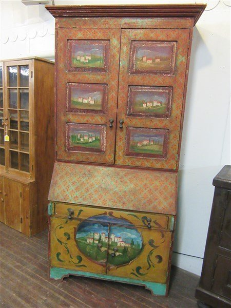 French Country Painted Secretaire