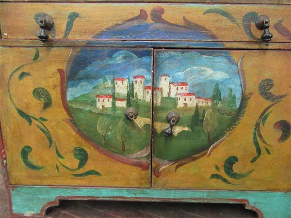 French Country Painted Secretaire - 3