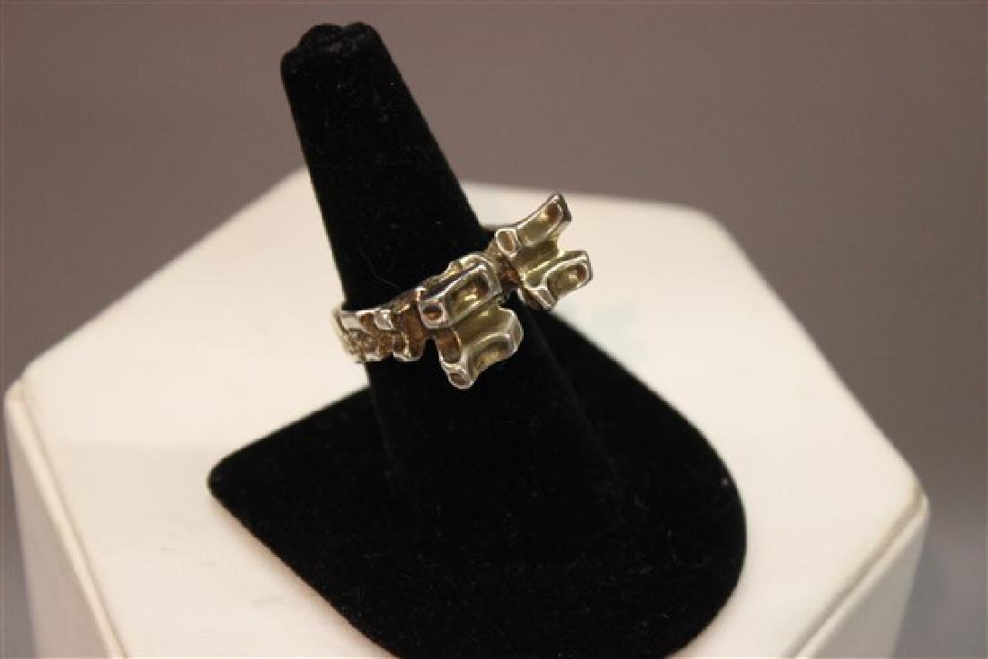 Norwegian Modernist Sterling Silver Ring