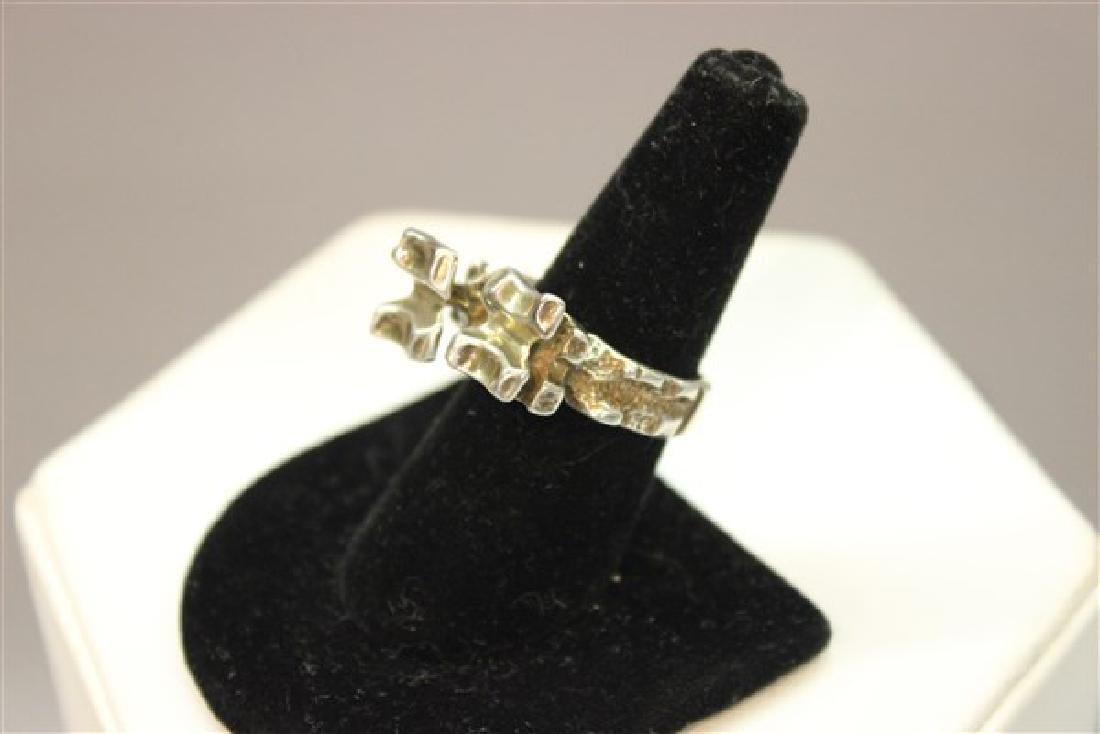 Norwegian Modernist Sterling Silver Ring - 2