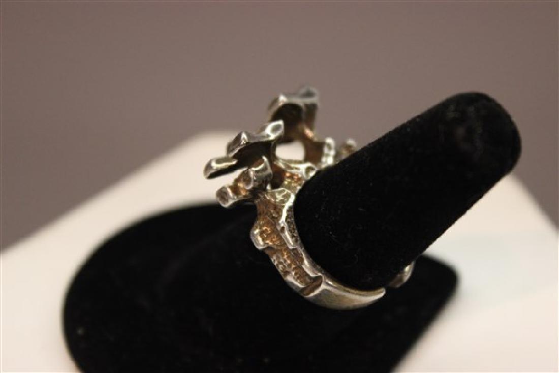 Norwegian Modernist Sterling Silver Ring - 3