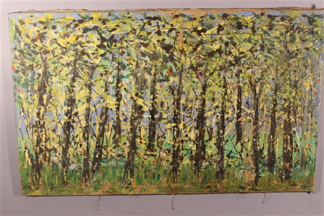 Abstract Oil On Canvas, Trees