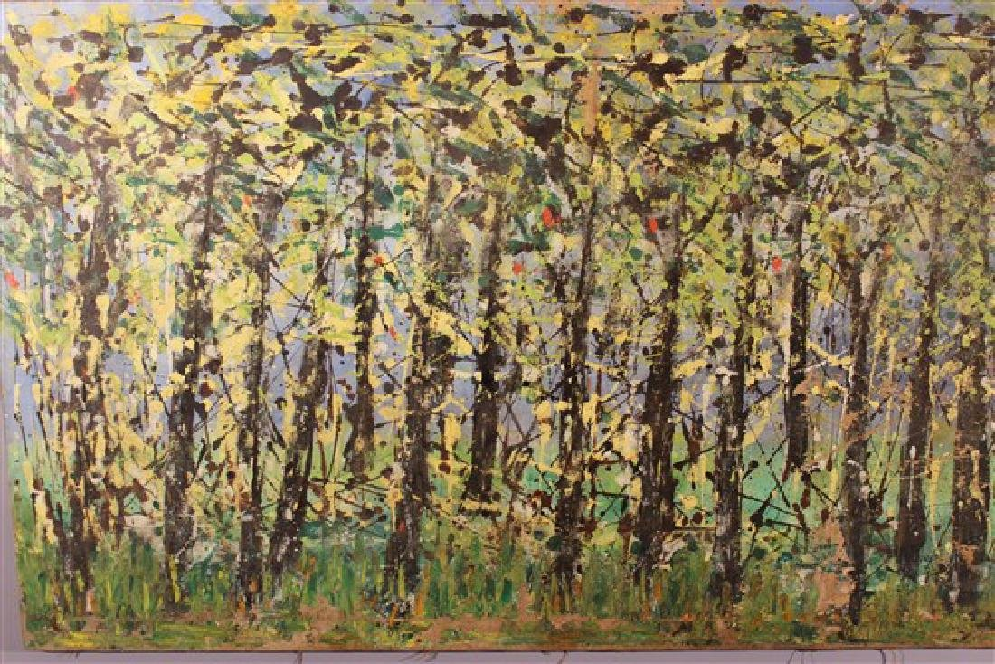 Abstract Oil On Canvas, Trees - 2