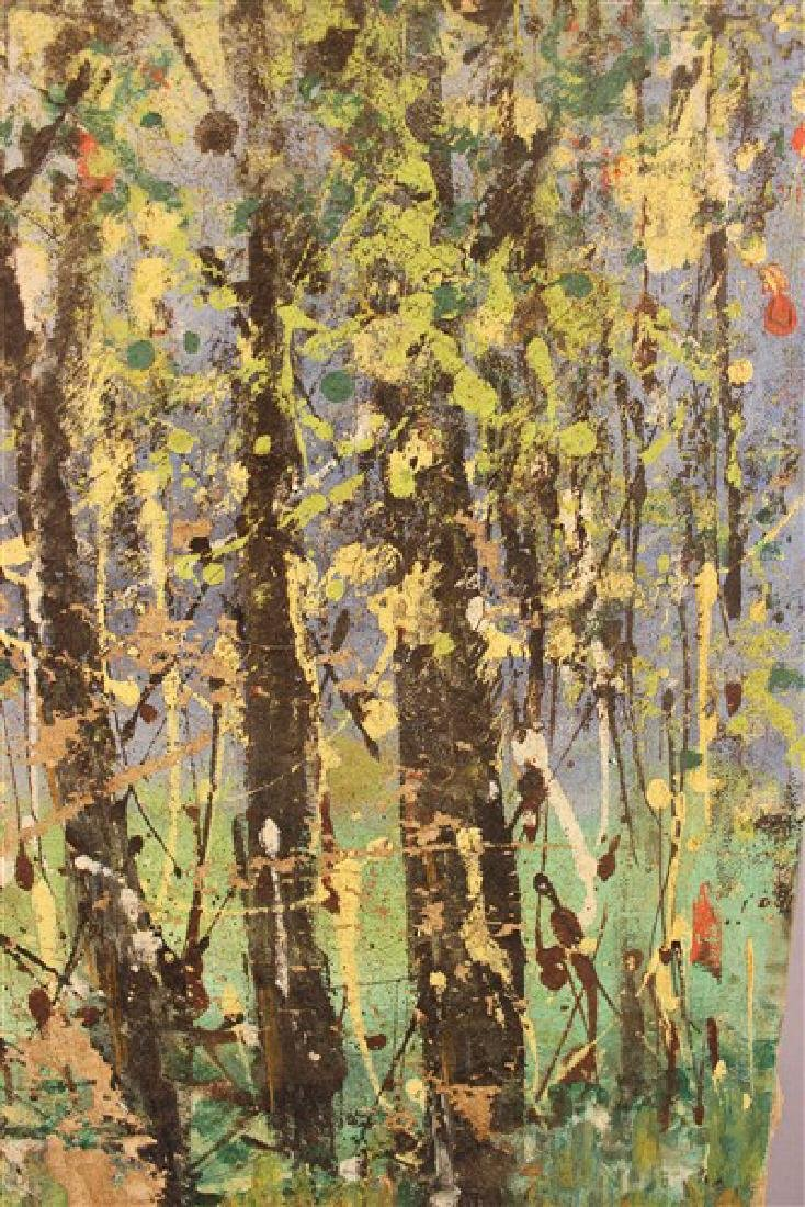 Abstract Oil On Canvas, Trees - 5