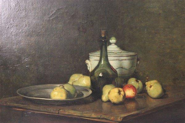 Emil Carlsen, Oil On Canvas Still Life Painting