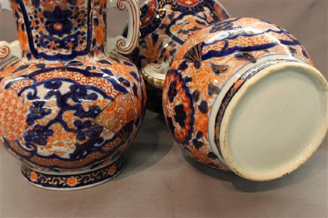 A Pair of Chinese Imari Vases - 4