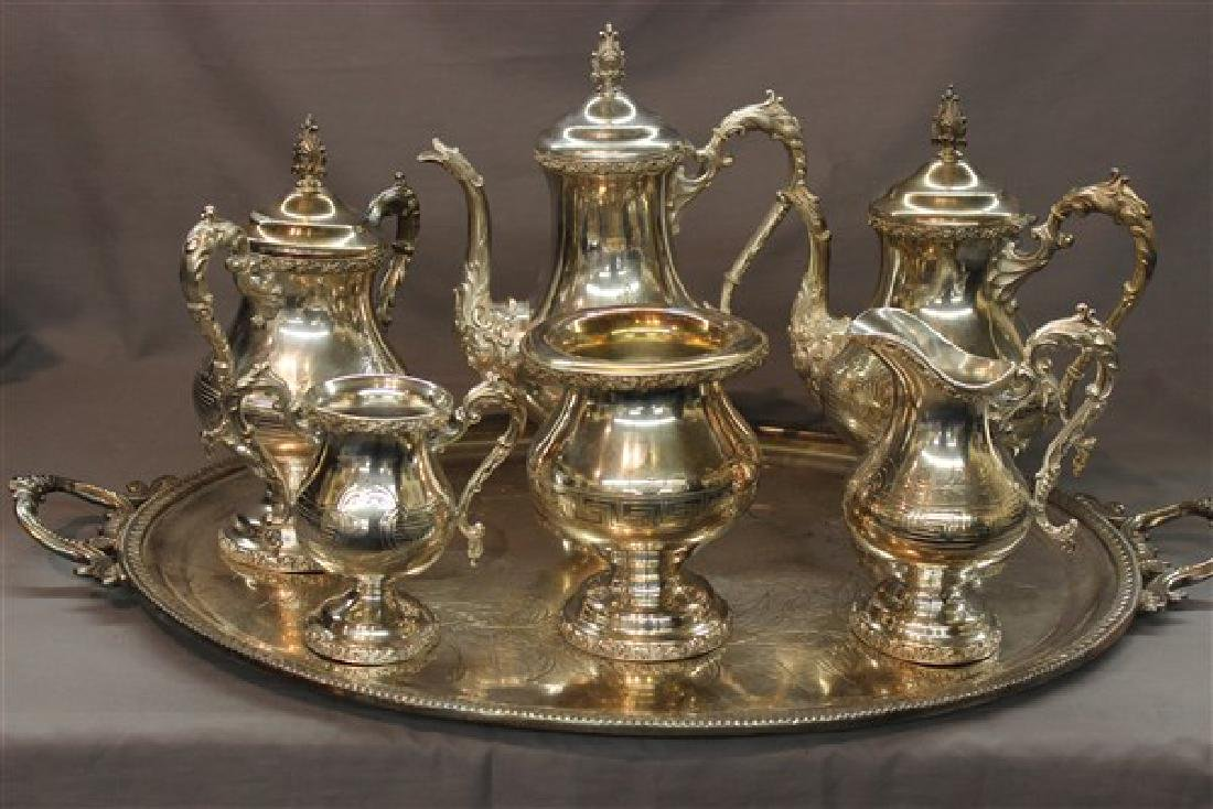 Victorian Silver Plate Coffee And Tea Service