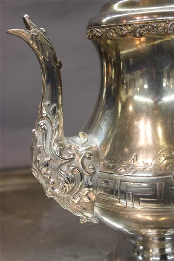 Victorian Silver Plate Coffee And Tea Service - 5