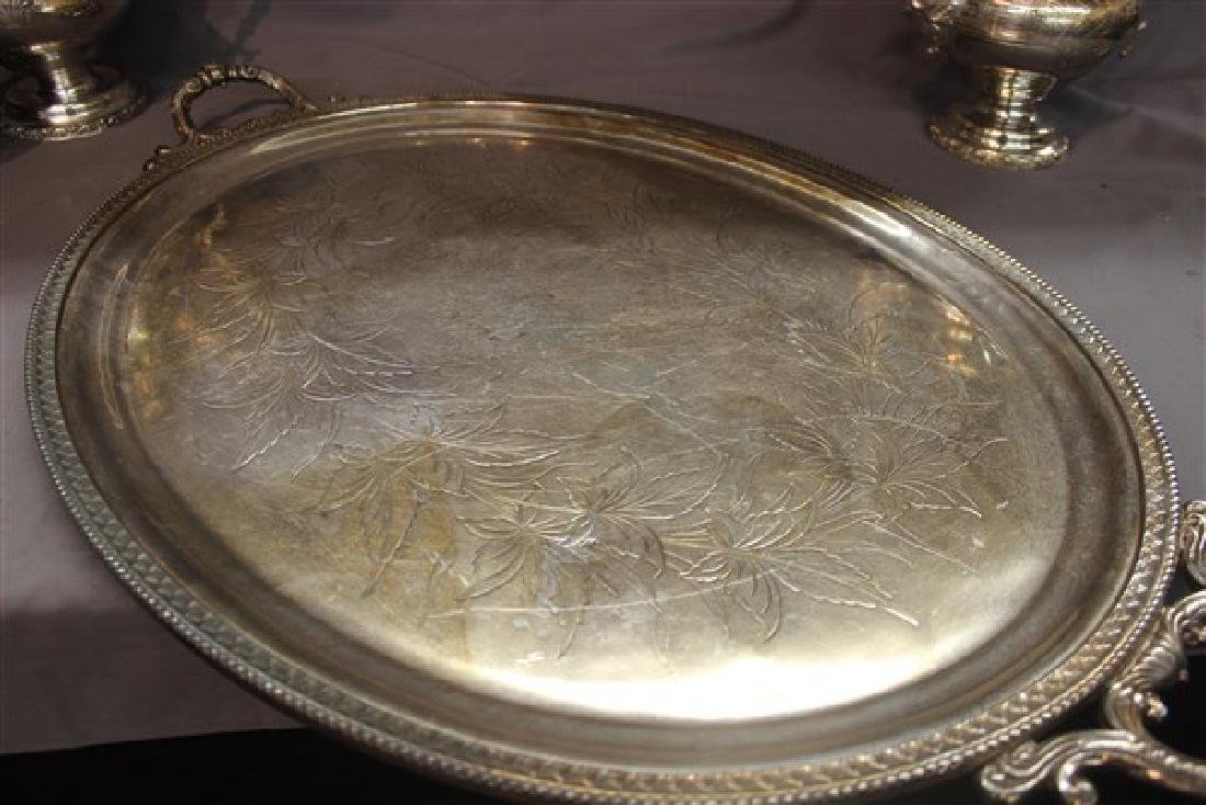 Victorian Silver Plate Coffee And Tea Service - 7