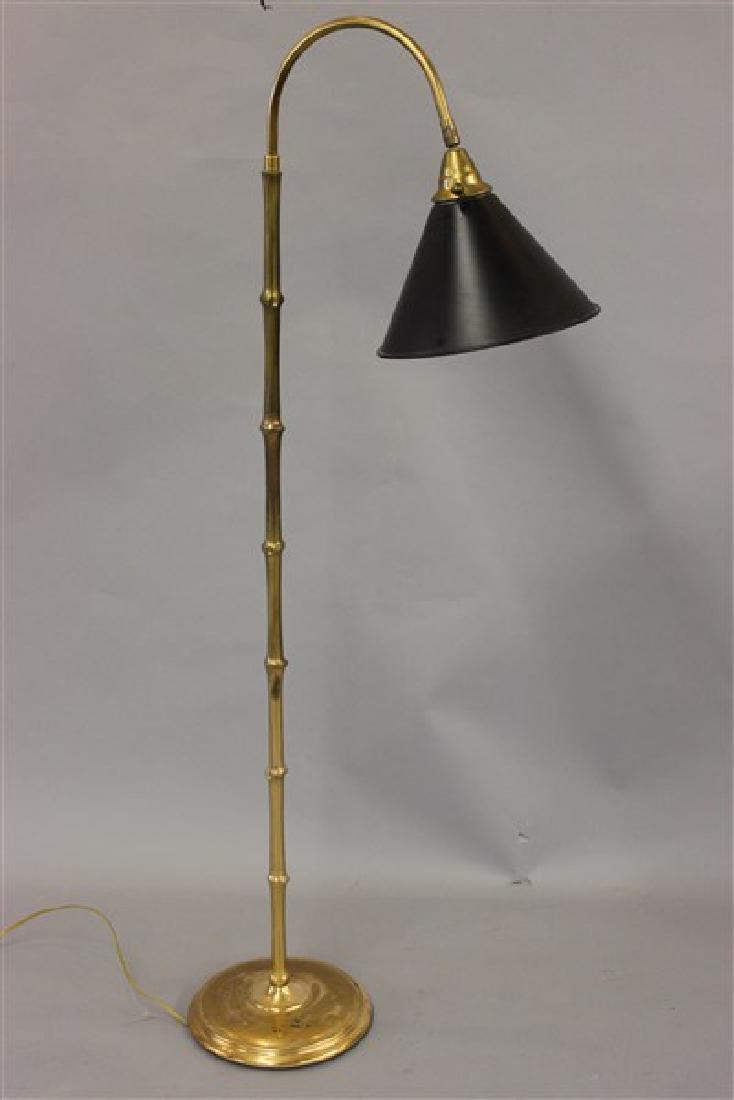 Vintage Brass Floor Lamp by Crest