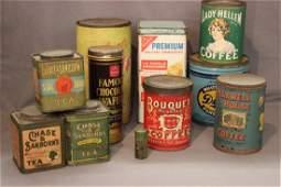Eleven (11) Piece Vintage Advertising Tins Lot