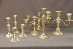 Sterling Silver Candlesticks And Candelabra