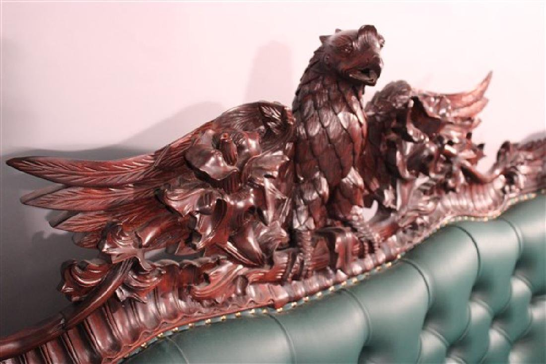 Contemporary Carved Mahogany Tufted Sofa And Chair - 3