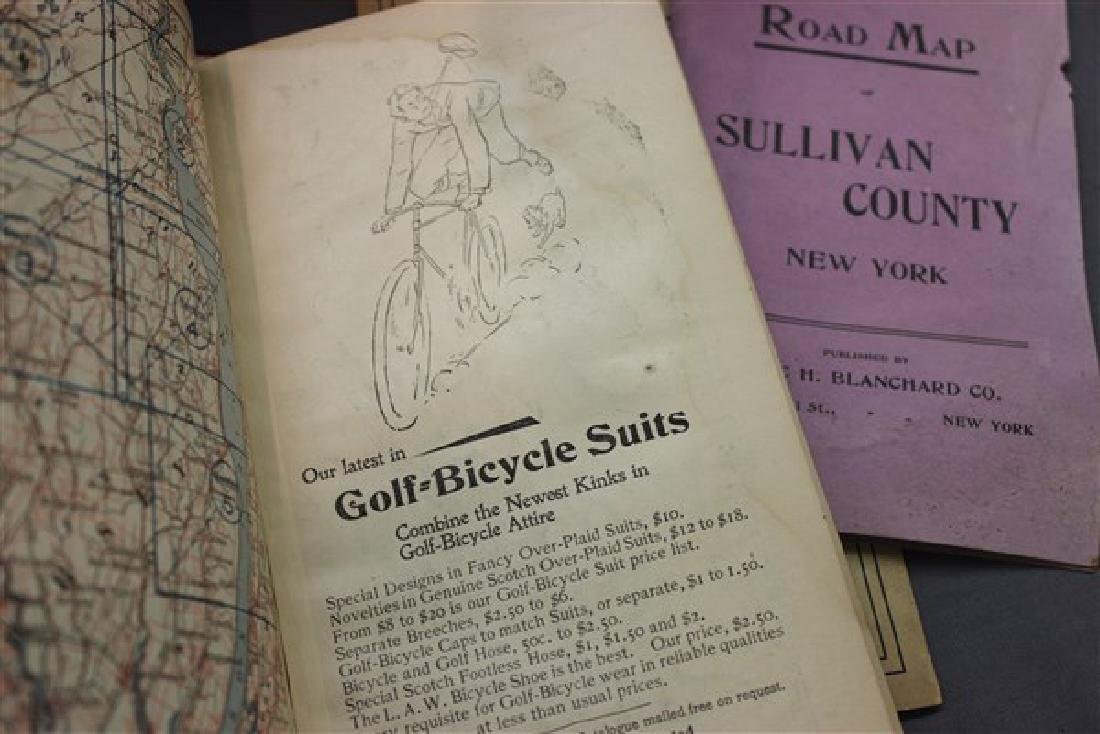 Early Victorian Bicycle And Auto Road Maps, New York - 5