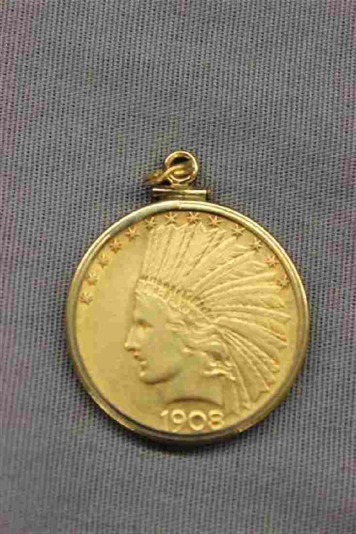 1908 U.S. Indian Head $10 Gold Coin