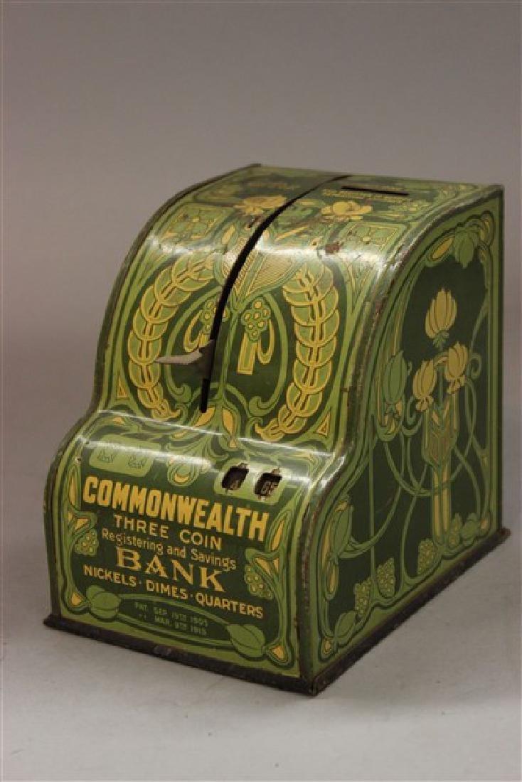C.1915 Art Nouveau Designed Tin Cash Register Bank