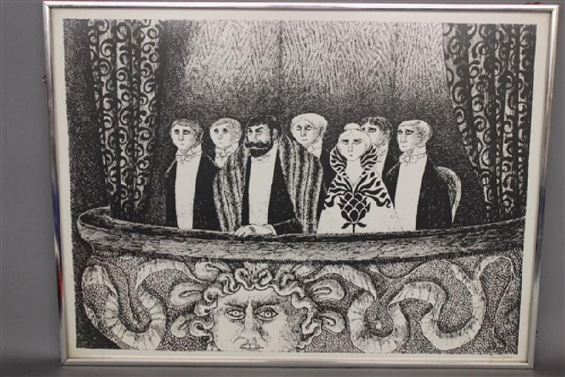 Edward Gorey (1925-2000) Theatre-Goers Signed Print