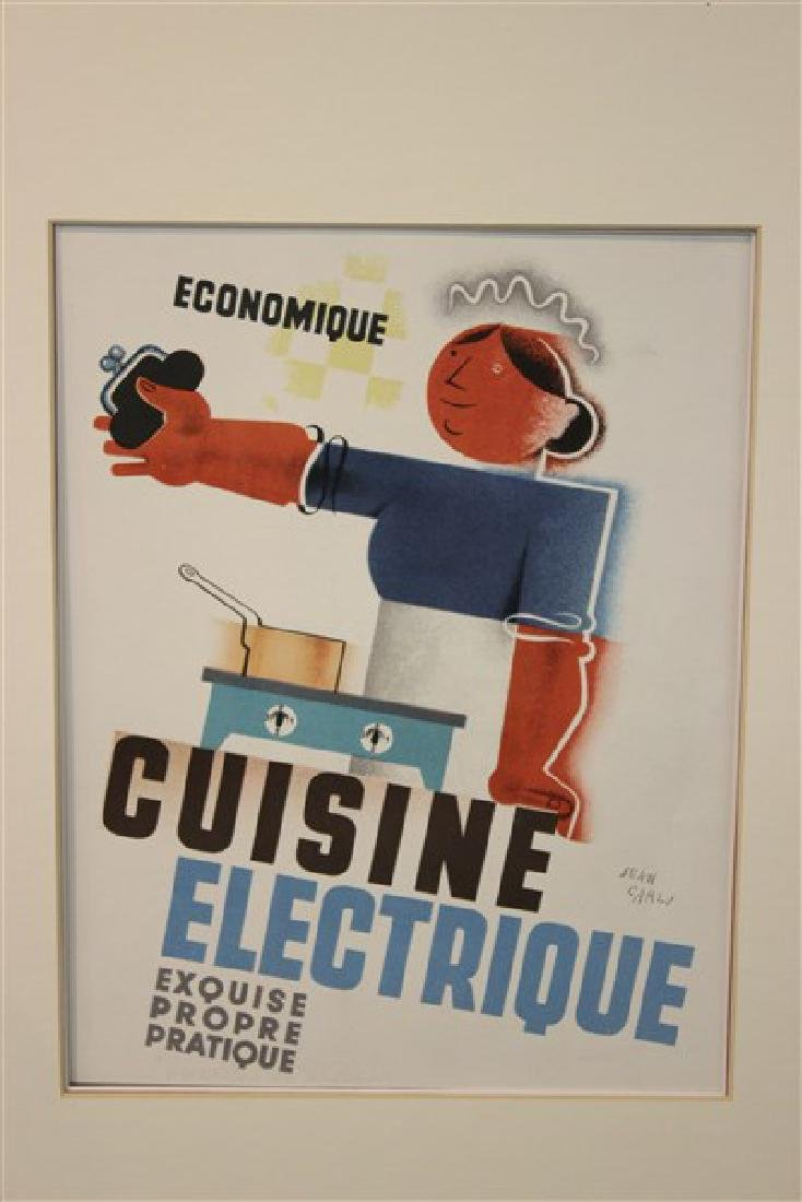 "Jean Carlu French ""Cuisine Electrique"" Lithograph"