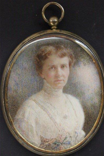 William Patterson (1865-1939) Miniature Oil Portrait