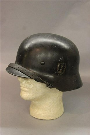 WWII GERMAN FIREFIGHTER HELMET WITH NECK GAURD - May 06, 2012