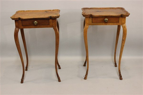 French Provincial Fruitwood Side Tables