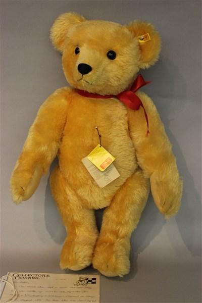 """Steiff 24"""" 1909 Gold Steiff Teddy Bear"""